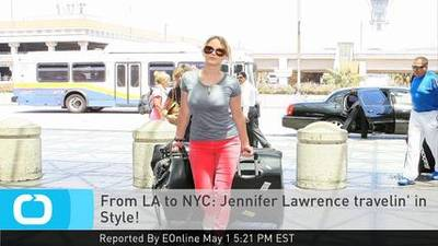 News video: From LA to NYC: Jennifer Lawrence Travelin' in Style!